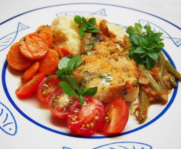 Parmesan pike and potato mash withceleriac