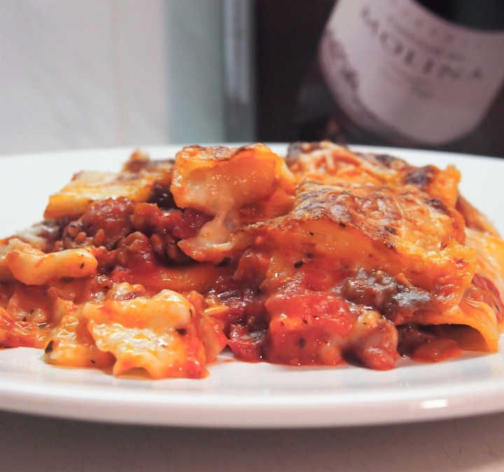 Lasagne with meat and boletes – glutenfree