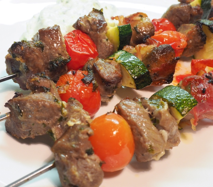 Meat skewers made in the oven
