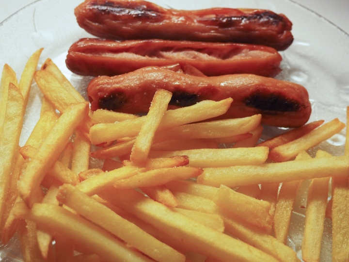 Sausages and French fries