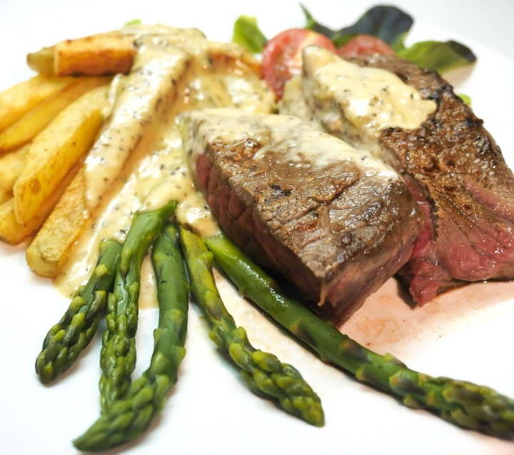 Pepper steak and Frenchfries